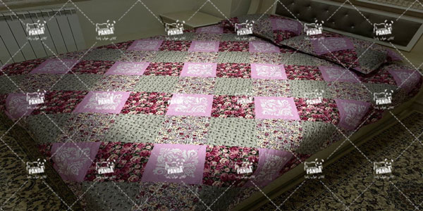 روتختی دو نفره پنبه دوزی گلدار