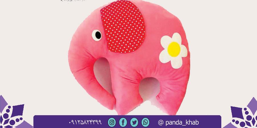 فروش عمده بالش عروسکی فیل با رنگ های متنوع